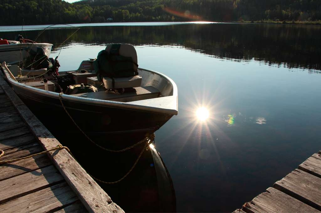 Boats and Motors Provided in Fishing Packages at Lost Lake Wilderness Lodge