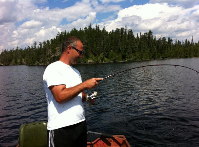 Casting on Lost Lake Ontario
