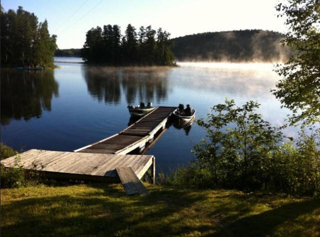 Morning Fog on Dock at Lost Lake Ontario