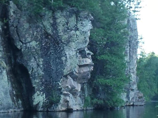 Rock Face on Lake