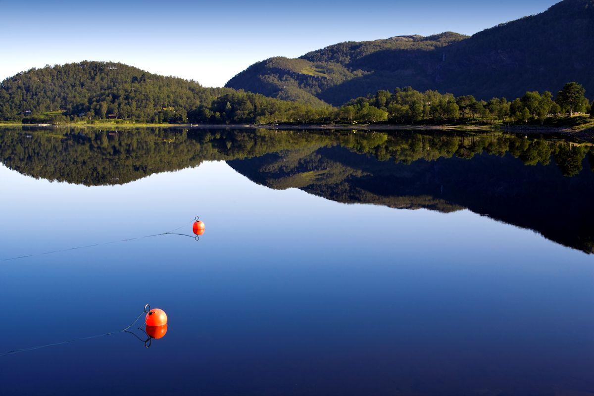 Lake with Fishing Bouys