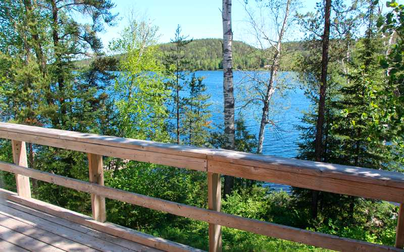 View of Lost Lake from Cabin Deck